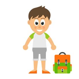 Justus steht allein mit seinem Ranzen vor der Schule. Die Information, dass die Schule ausfällt, kam bei seinen Eltern nicht an.