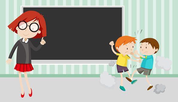 Unterrichtsstörungen durch zwei sich streitende Schulkinder