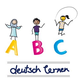 DaZ im Schulalltag: drei Kinder verschiendener Kulturen lernen die deutsche Sprache