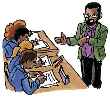 Lehrer schaut auf seine Uhr und sehnt den Schulschluss herbei - ist dieses nur eines von vielen Klischees über Lehrkräfte?