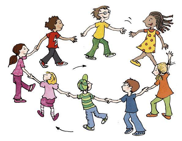 Rituale, wie hier der Stehkreis, geben den Kindern Sicherheit.