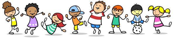 Kinder spielen und tanzen und springen - Das Bewegungsbedürfnis von Kindern muss auch in der Schule Berücksichtigung finden.