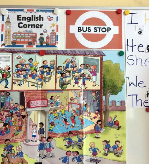Der Bus Stop in der Englisch-Ecke