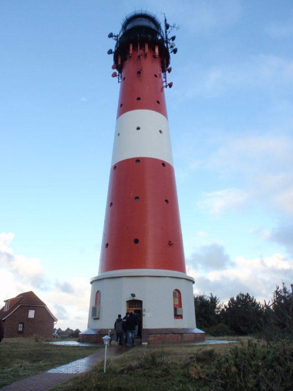 Der Leuchtturm von Hörnum, der auf einer Klassenfahrt nach Sylt besucht werden sollte.