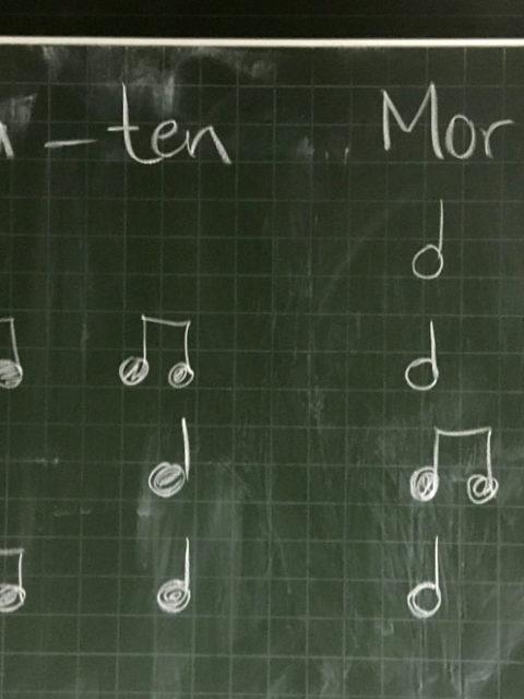 Rhythmus in Musikklassen klatschen