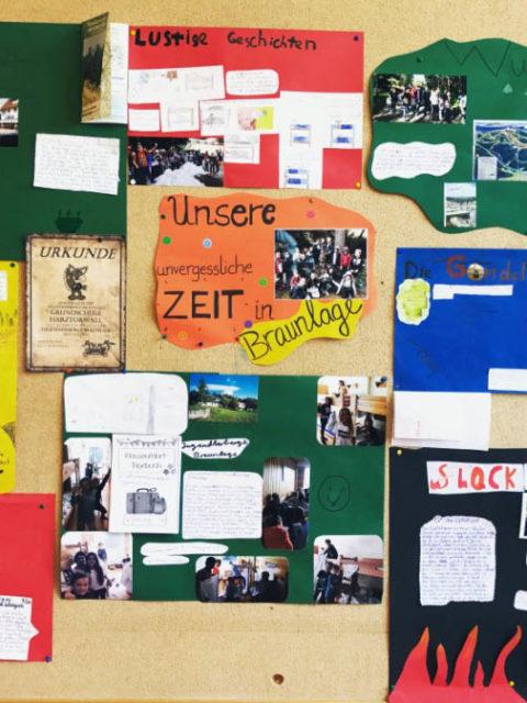 Mein Start als Klassenlehrerin (3):Eine Wandzeitung zur Klassenfahrt