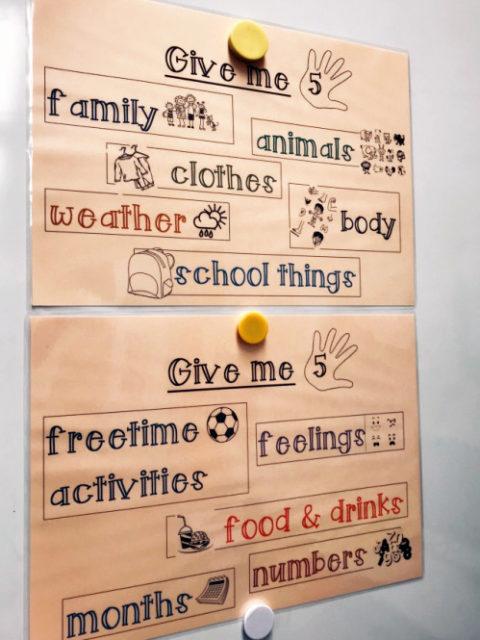 Einfache Spiele für den Englisch-Unterricht (7): Give me five